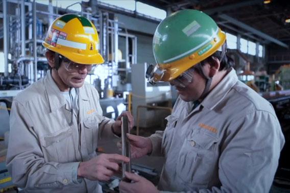 愛知製鋼知多工場の検査