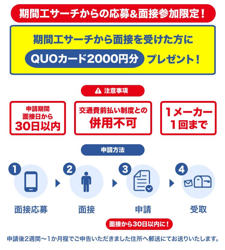 QUOカード申請 class=