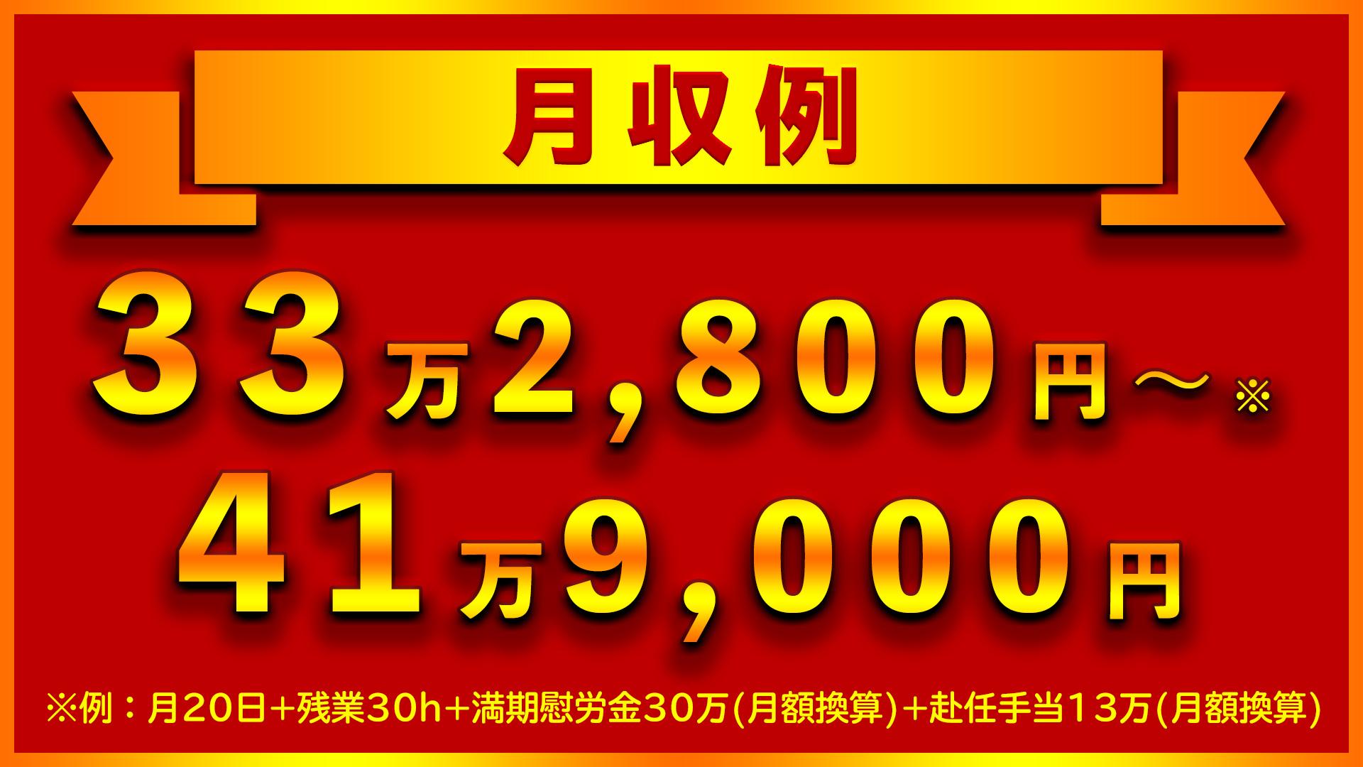 コマツ大阪の期間工の月収例は33万2,800円!